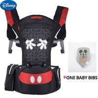 Disney Breathable Ergonomic Carrier Backpack Portable Infant Baby Carrier Hipseat Heaps With Sucks Pad Baby Sling Carriers