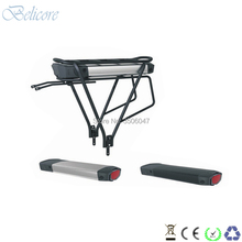 цена на free shipping electric bike battery 36v 10ah 12ah rear rack e-bike battery with charger and luggage rack