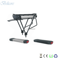 free shipping electric bike battery 36v 10ah 12ah rear rack e bike battery with charger and luggage rack