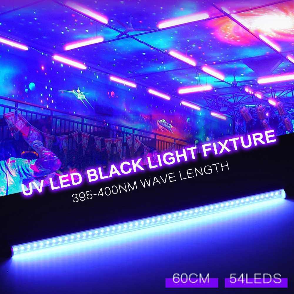 60 см 9 Вт 54 светодиодный ультрафиолетовый свет Настенные светильники Портативный лампа чёрного света освещение для бара вечерние Клубные украшения для дискотеки для световых сценических эффектов