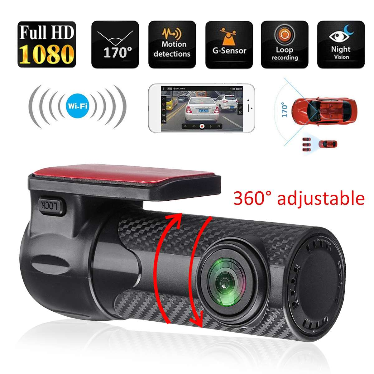 Car DVR Driving-Recorder Truck Dash-Cam Camcorder-Night-Vision WIFI Auto Mini 170-Degree