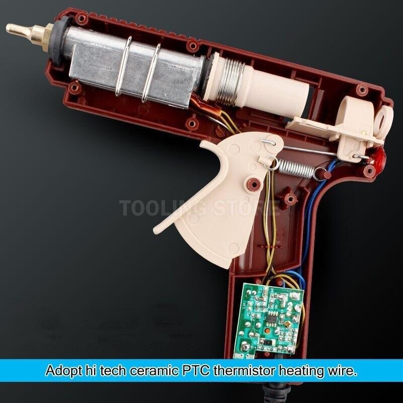 LIJIAN Professional Hot Melt Glue Gun Adjustable Temperature Mini Wireless Battery Copper Nozzle 7mm 11mm Sticks Hand DIY Tool in Glue Guns from Tools