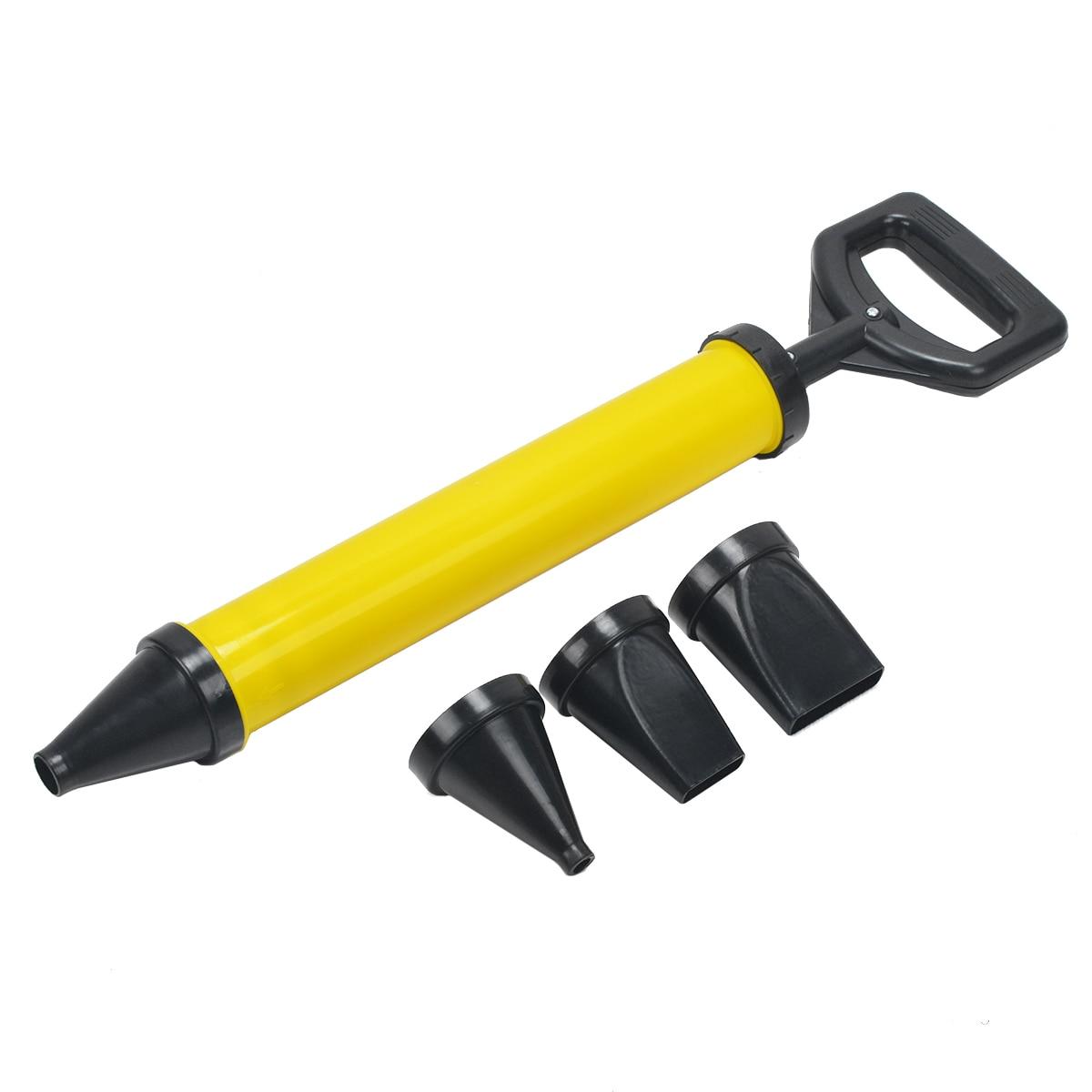 Mayitr 1 pc In Acciaio Inox Pistola per silicone di Puntamento di Mattoni Stuccatura Malta Spruzzatore Applicatore Strumento per Cemento calce 4 Ugello