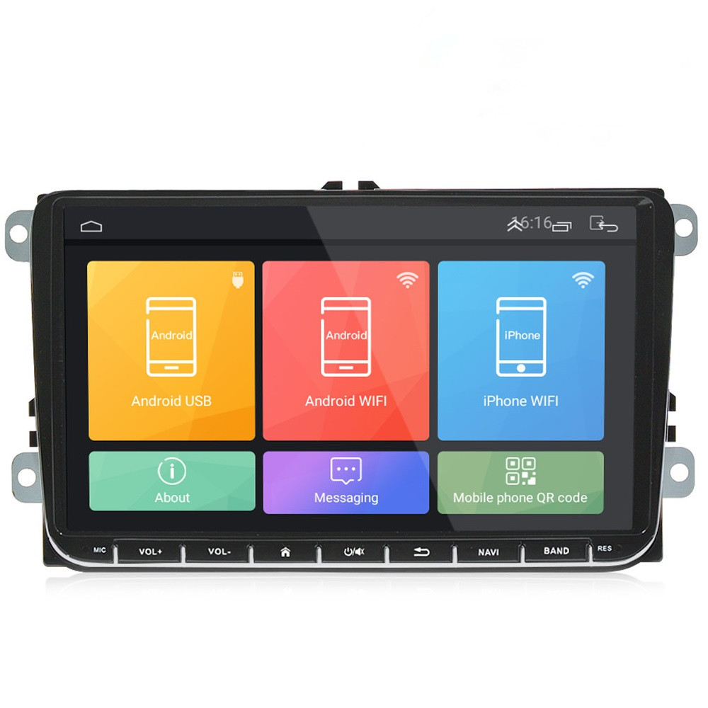 Universal for VW Car Android Player 9 inch DVD Player 2Din with Ultra Thin Body Full RCA Video Output Canbus System Functional