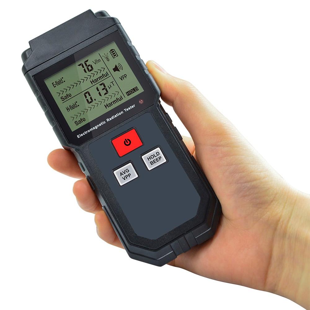 US $16 99 30% OFF Electromagnetic Radiation Detector Field Shielding  Protection EMF Tester Digital Battery Radiation Meter Measurement-in