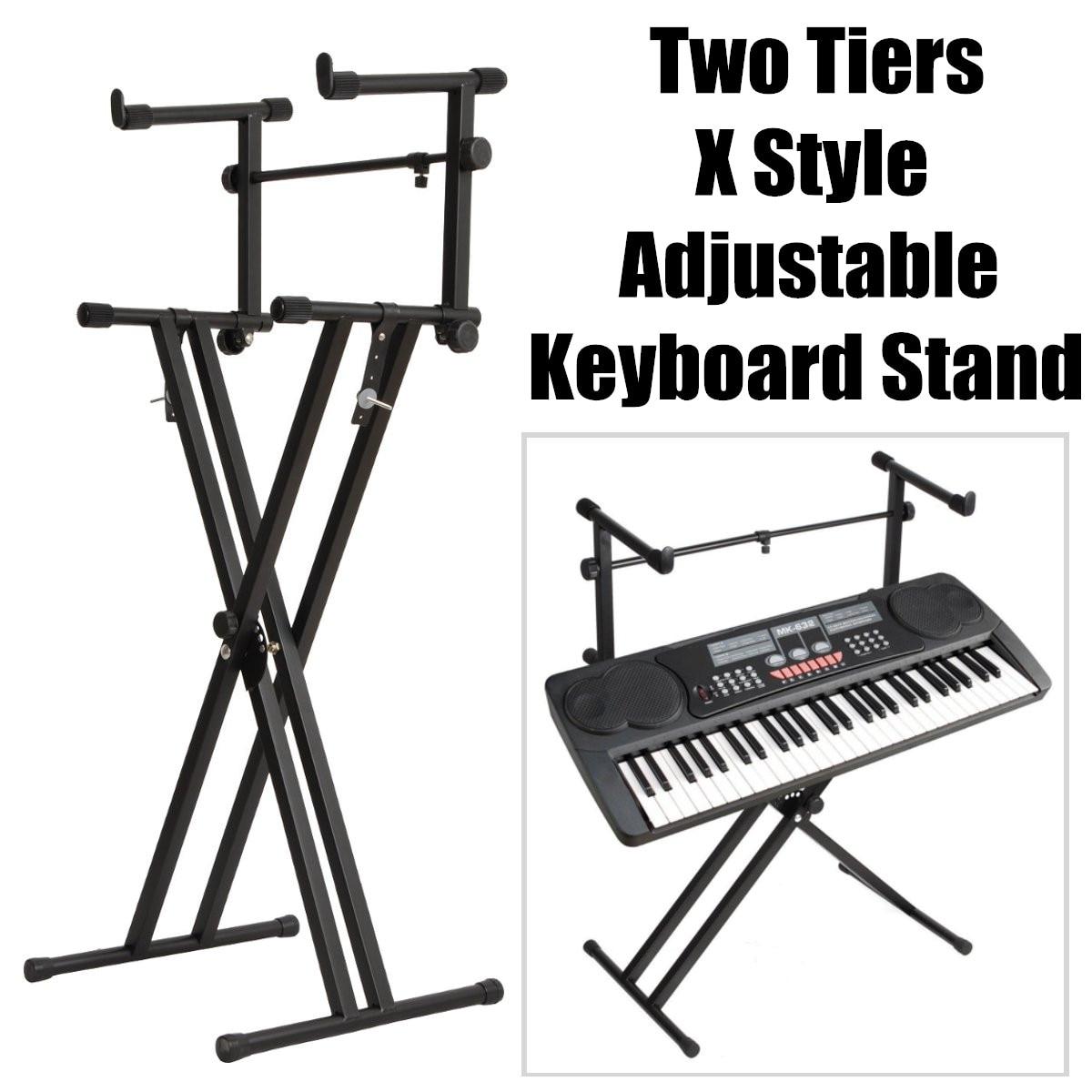2-niveaux X Style double support de clavier réglable musique électronique support de Piano clavier de musique Instrument accessoires pièces