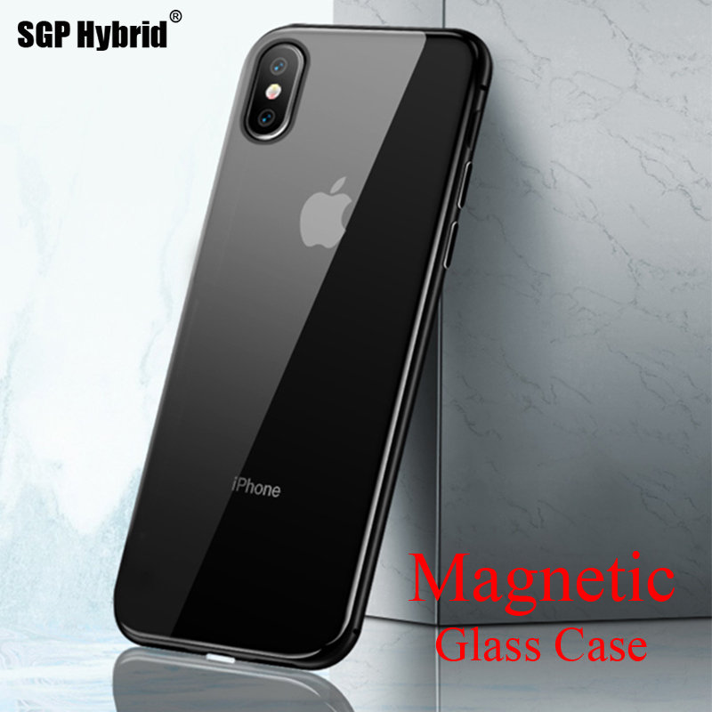 Metal Magnetic Case for iPhone XR X R S Tempered Glass Magnet Case Shell for iPhone XS MAX 10S 10R SX Max RX Phone Cases CoverMetal Magnetic Case for iPhone XR X R S Tempered Glass Magnet Case Shell for iPhone XS MAX 10S 10R SX Max RX Phone Cases Cover