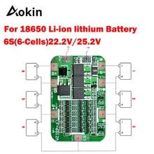 1 шт. 6S 15A 24 В печатная плата защиты BMS для 6 пакетов 18650 литий-ионная литиевая батарея сотовый модуль diy kit