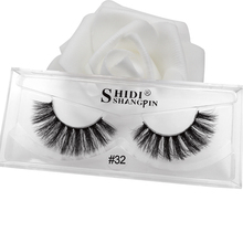 SHIDISHANGPIN makeup 3d mink flase eyelash 1 pair full strip lashes plastic cotton stalk 1cm-1.5cm volume eyelashes