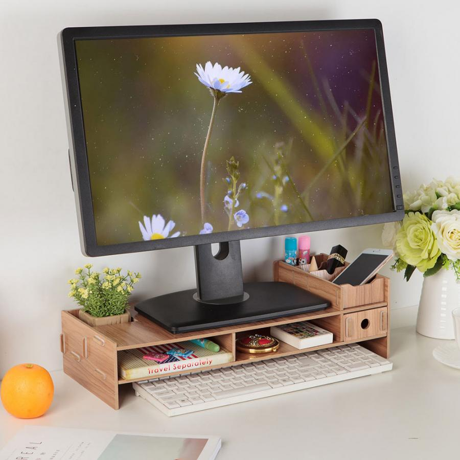 High Quality Laptop Table Monitor Laptop Stand Computer Screen Support Modern Office Desk Rack Shelf