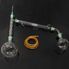 1000 мл химический лабораторный дистилляционный аппарат лабораторный химический стеклянный набор посуды набор дистилляционный аппарат для стекла 24/29