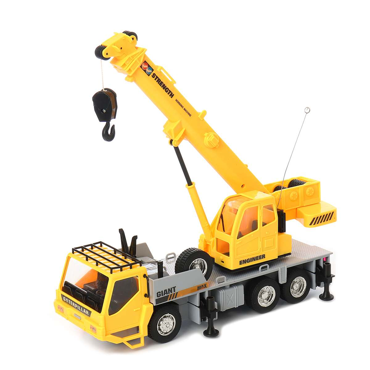 Kids RC Car Construction Remote Control Truck Crane Toy Model Engineering Excavator Vehicles Tower With Light Sound Toys Gift