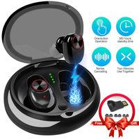 V5 TWS Earphone Waterproof Bluetooth 5.0 Headset Mini TWS Twins V5 Wireless earphone In Ear Sport Stereo Earphones Earbuds