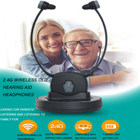 KINCO Rechargeable 2.4G Wireless Old Hearing Aid Universal 2.4G TV Mobile Phones Listening Headset