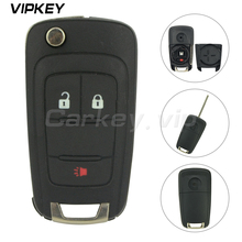 Remotekey 20873621 Folding key shell for Chevrolet Equinox Sonic 2010 2011 2012 2013 2014 2015 OHT01060512 2 button with panic for chevrolet camaro bumblebee spoiler primer unpainted abs material 2010 2011 2012 2013 2014 2015