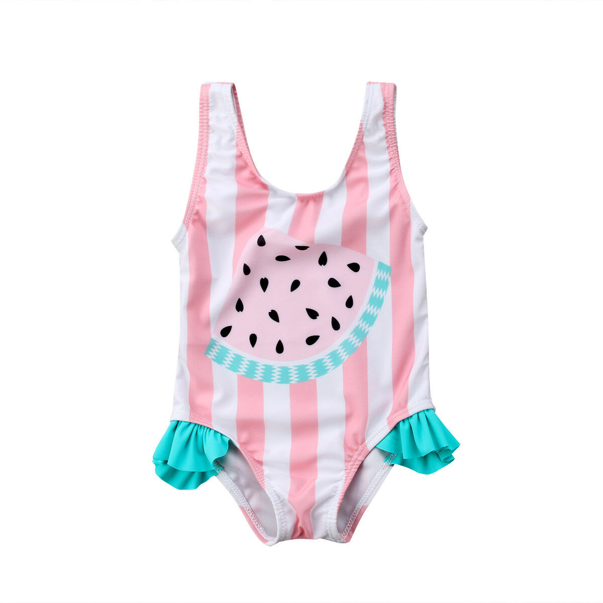 0-3Y Cute Toddler Kids Baby Girl Swimsuit Sleeveless Watermelon Striped One Pieces Swimwear Bathing Suit | healthy feet socks