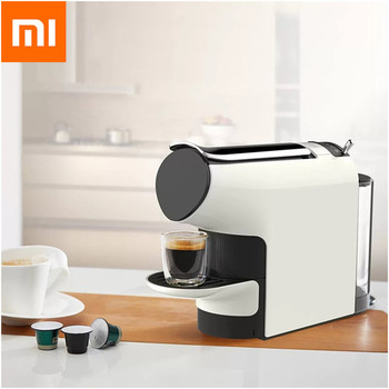 Xiaomi MIJIA SCISHARE умная кофемашина 9 уровня концентрации капсулы Эспрессо предустановка совместима с 40 кофе капсулы >> Global Good Life Store