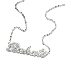 Sweey Wholesale Jewelry Manufacture Full Birthstones Carrie Name Necklace/Nameplate Necklace Ebay/Amazon/Etsy Valentines Gift