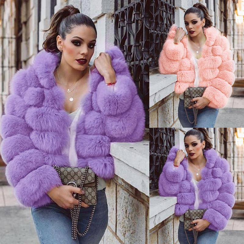 Fashion New Jacket Faux Fur Coat With Hats  Women's Fur Coat Warm Long-Sleeved Coat For Autumn And Winter Support Drop Shipping