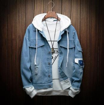Autumn Hooded Denim Jacket  2