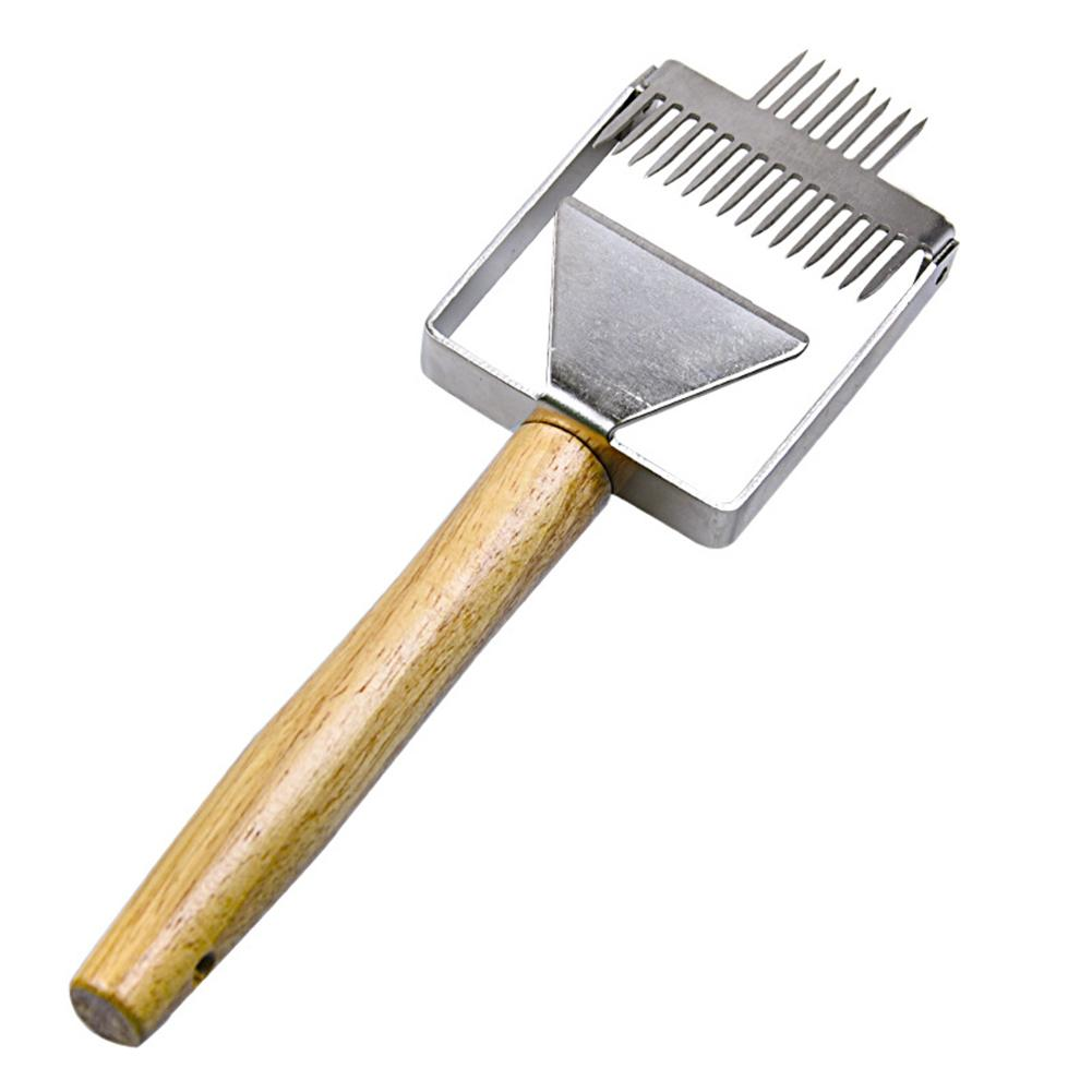 Stainless Steel Bee Hive Uncapping Honey Fork Scraper Shovel Beekeeping Tool ty