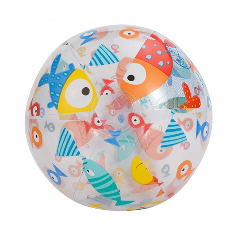 Inflatable Water Ball Outdoor Swimming Toy PVC Inflatable Beach Elastic Float Ball Parent Child Interactive Water Ball