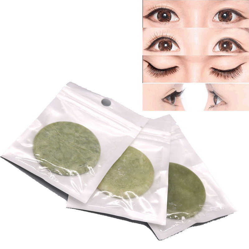 Popular Jade Stone Eyelash Extension Glue Adhesive Holder Fake Eye Lash Makeup Tool Eyelash Accessories Clean Easily