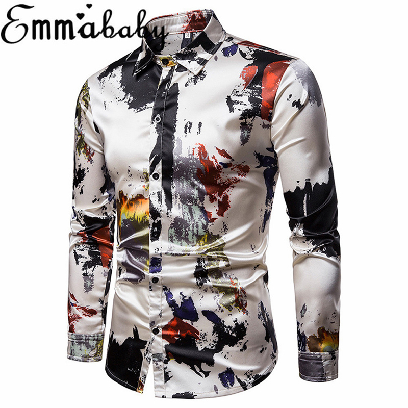 Quality British Style Men Shirt Embroidery Fashion 2018 Autumn Business Dress Shirts Mens Long Sleeve Slim Fit Tuxedo Blouse 3xl Consumers First Men's Clothing Shirts