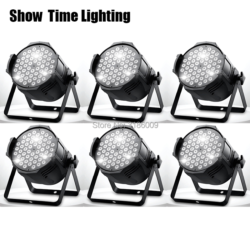 Lumière d'étape professionnelle 54x3 W led par lite RGBW éclairage d'étape Disco DJ Club effet spectacle de mariage DMX stroboscope Lite équipement d'étape
