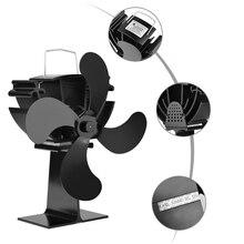 4 лопасти Домашний Вентилятор для камина эффективный теплораспределительный вентилятор для печи, работающий от тепловой энергии для дровяной печи экологический Вентилятор Аксессуары для камина