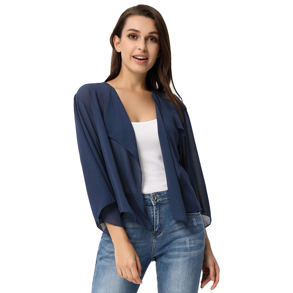 Women Girls Shrugs Summer Chiffon Shrug Front Open Cardigan Bolero Jacket Sun Protection Shawl Beach Scarf Shawl Cover Up Wrap Arm Sleeves UV Protection Clothing For Cycling Driving Outdoor Sports