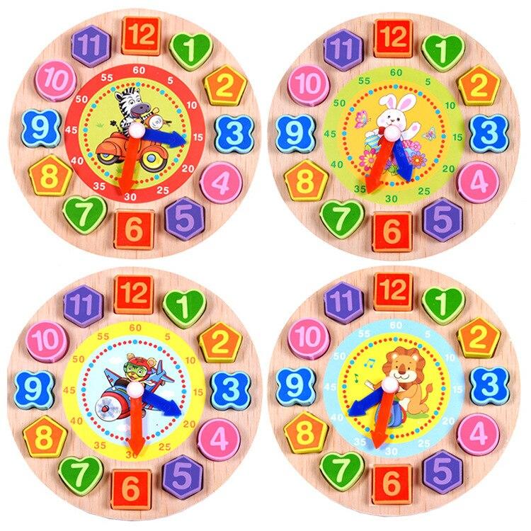 Threading Digital Clock Geometric Shape Matching Building Blocks Hand Clock Early Childhood Slip Enlighten Toys