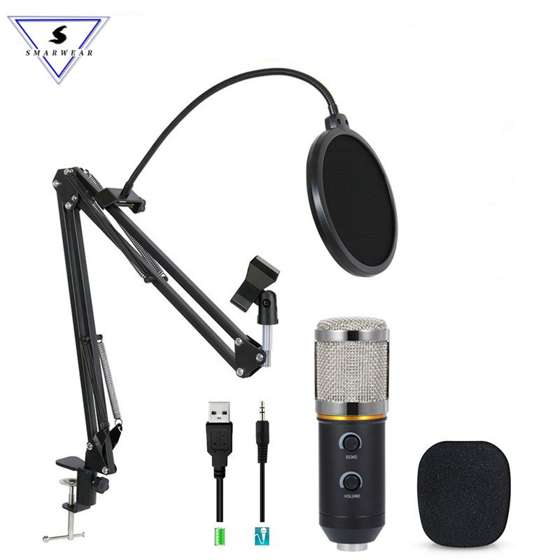 MK F200TL Professional Microphone USB Condenser Microphone Video Recording Wired Karaoke Studio Microphone kits For PC