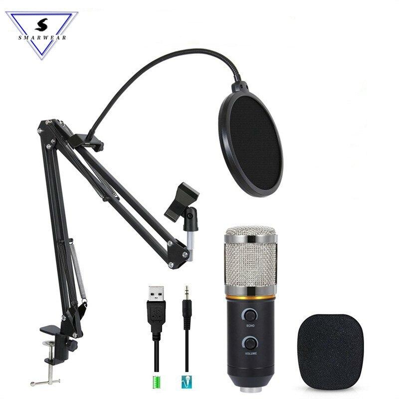 MK-F200TL Professional микрофон USB конденсаторный микрофон видео запись проводной караоке Студия микрофон наборы для ПК компьютер