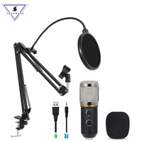 MK F200TL Professional Microphone USB Condenser Microphone Video Recording Wired Karaoke Studio Microphone kits For PC Computer