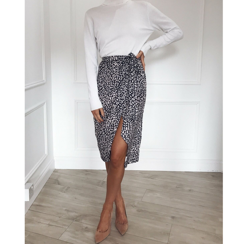 New Elegant Women Ladies Sexy Summer High Waist Skirts Beachwear 2019 Fashion Leopard Beach Casual Skirts Hot