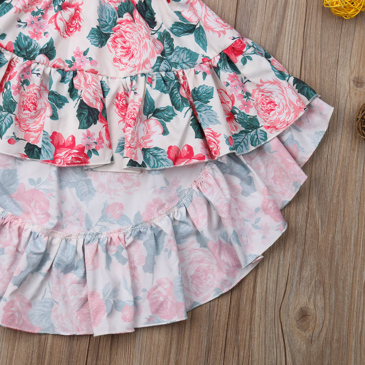 Sleeveless Tops Party Dress Summer outfit Toddler Kids Baby Girl Maxi Skirt