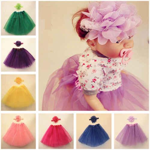 Pudcoco nueva marca lindo niño recién nacido bebé niña tutú falda + diadema foto Prop traje de traje