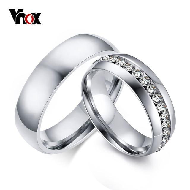 6a44714e874c Vnox 2 unids lote anillos de compromiso para los hombres y las mujeres  amante de