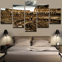 Canvas HD Prints Modular Pictures For Living Room Home Decor 5 Pieces Colosseum Building Paintings Wall Art Poster Framework хлебопечка redmond rbm 1919