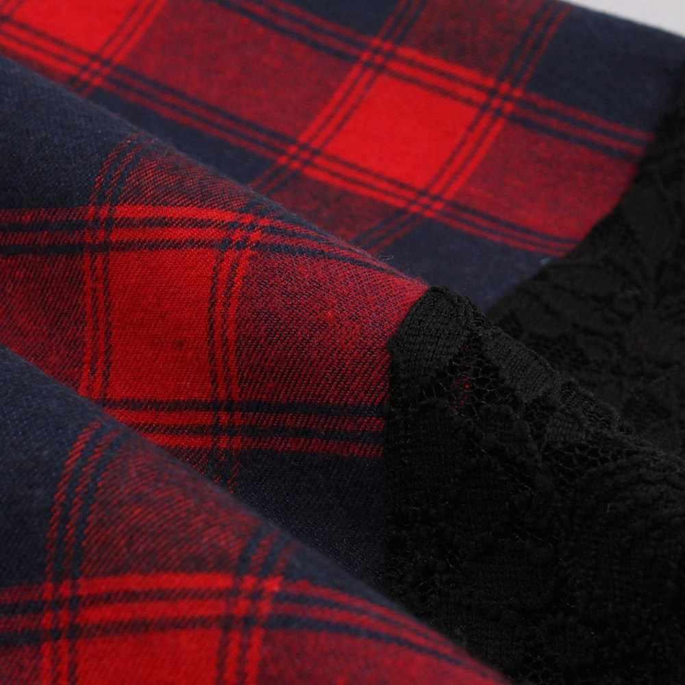 Sisjuly вечернее женское винтажное красное клетчатое готическое черное открытое цветочное кружевное платье офисное Женское Платье асимметричное платье для работы