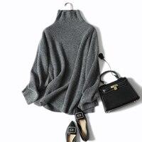 Shuchan осень зима Для женщин свитер с высоким воротом толстые теплые 100% вязанный кашемировый свитер пуловер Женский пуловер с длинным рукавом