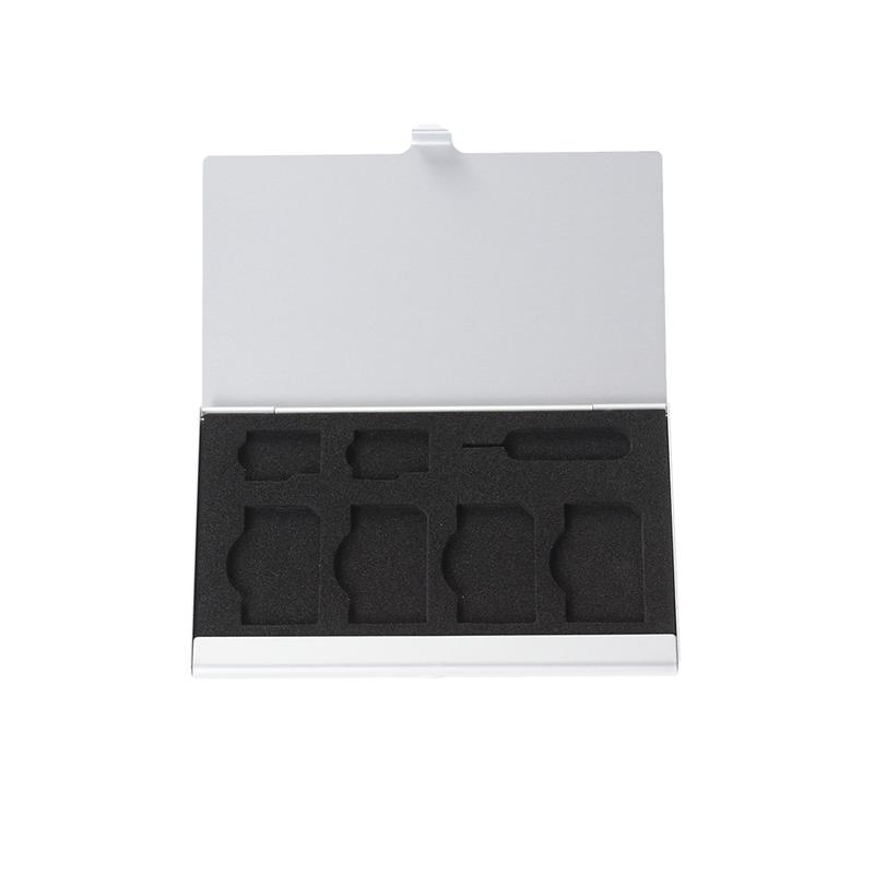1 Pc SIM Card Storage Holder Case with 7 Slots SIM Card Micro SIM Card Pin Holder Travel Portable Carrying Storage Case