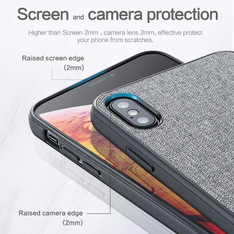 KISSCASE tela caso de Huawei P20 P30 Lite Pro amigo 20 X P10 Lite P Smart teléfono caso para Honor 10 Lite 8X cubierta Funda