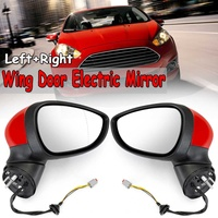 New Red Car Left & Right Wing Door Electric Rearview Rear View Side Mirror For Ford For Fiesta MK7 2008 2012 Side Mirrors