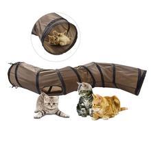 S-shaped 9 kolorów zabawny tunel dla zwierząt zabawkowy tunel dla kota brązowy składany tunel dla kota kotek zabawka dla kota zabawki dla kotów hurtowo królik tunel do zabawy tanie tanio Z tworzywa sztucznego Peitten cats Cat Play Tunnel