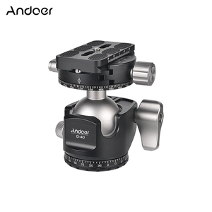 Image 1 - Andoer D 40 Professional CNC Double Panoramic Tripod Monopod Ball Head for Canon Nikon DSLR ILDC Cameras Max Load Capacity 25kg