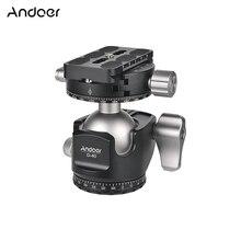 Andoer D 40 Professionale CNC Doppio Panoramica Treppiedi Monopiede Testa A Sfera per Canon Nikon DSLR ILDC Fotocamere Max Capacità di Carico 25kg