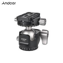 Andoer D 40 profissional cnc duplo panorâmica tripé monopé bola cabeça para câmeras canon nikon dslr ildc capacidade de carga máxima 25kg