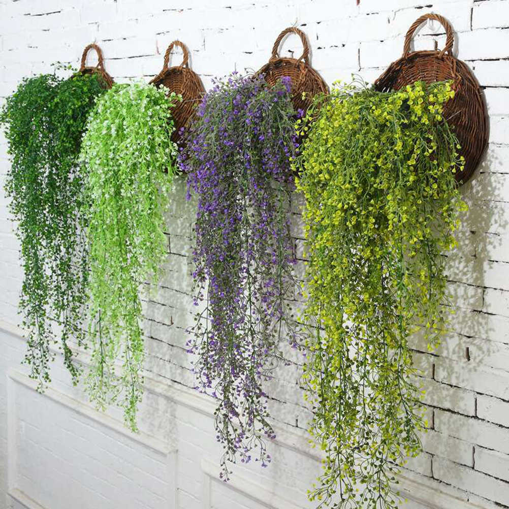 85CM Artificial Hanging Flower Plant Fake Vine Willow Rattan Flowers Artificial Hanging Plant For Home Garden Wall Decoration